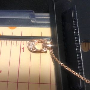 """Coach Jewelry - NEW Coach Gold Pave Signature """"C"""" Necklace"""
